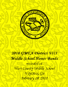 2018 GMEA District VIII  Middle School Honor Band Concert
