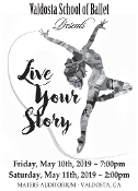 Valdosta School of Ballet presents Live Your Story 2019